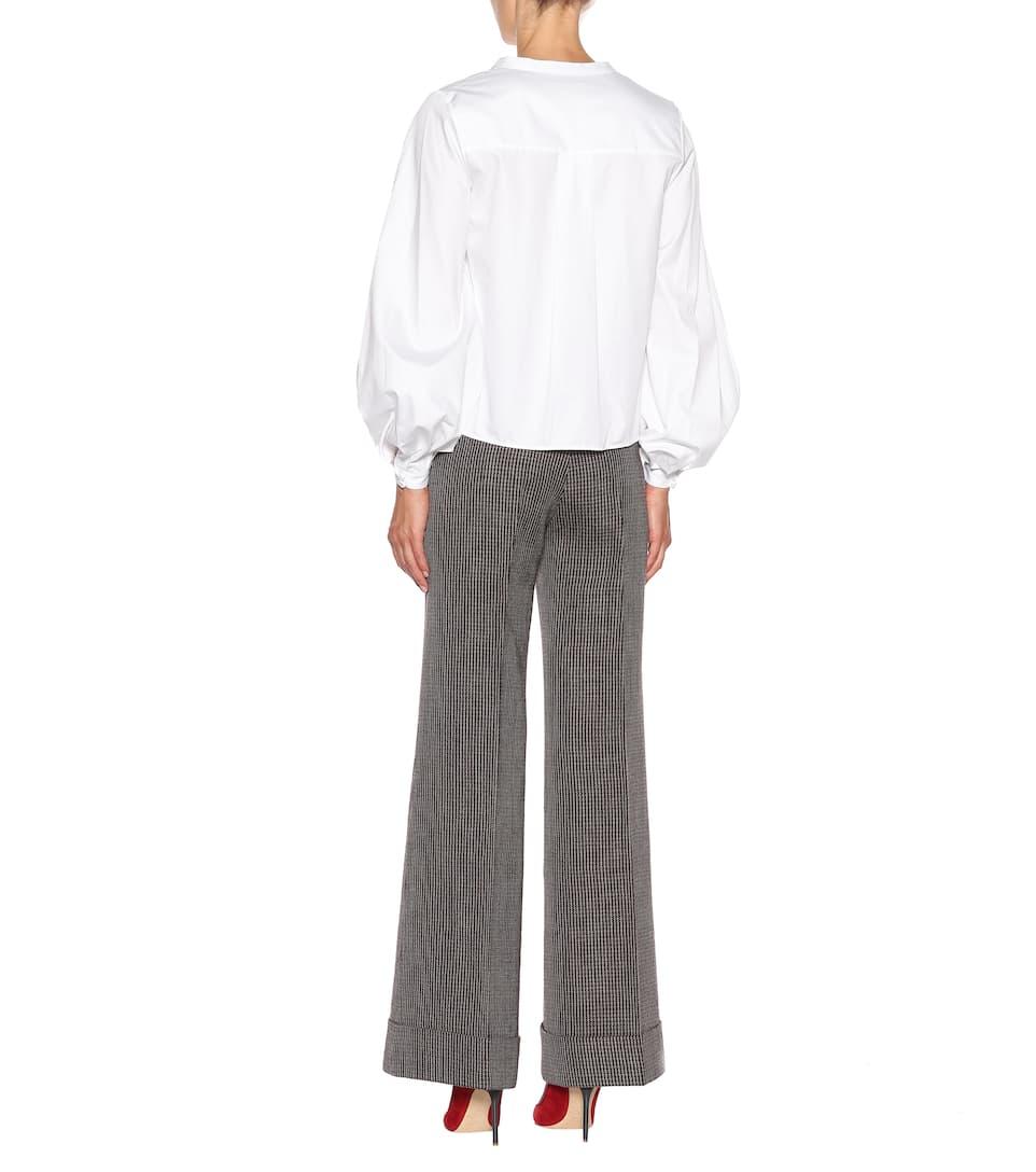de algodón Suzanna Khaite Blanco Camisa 7fdqf