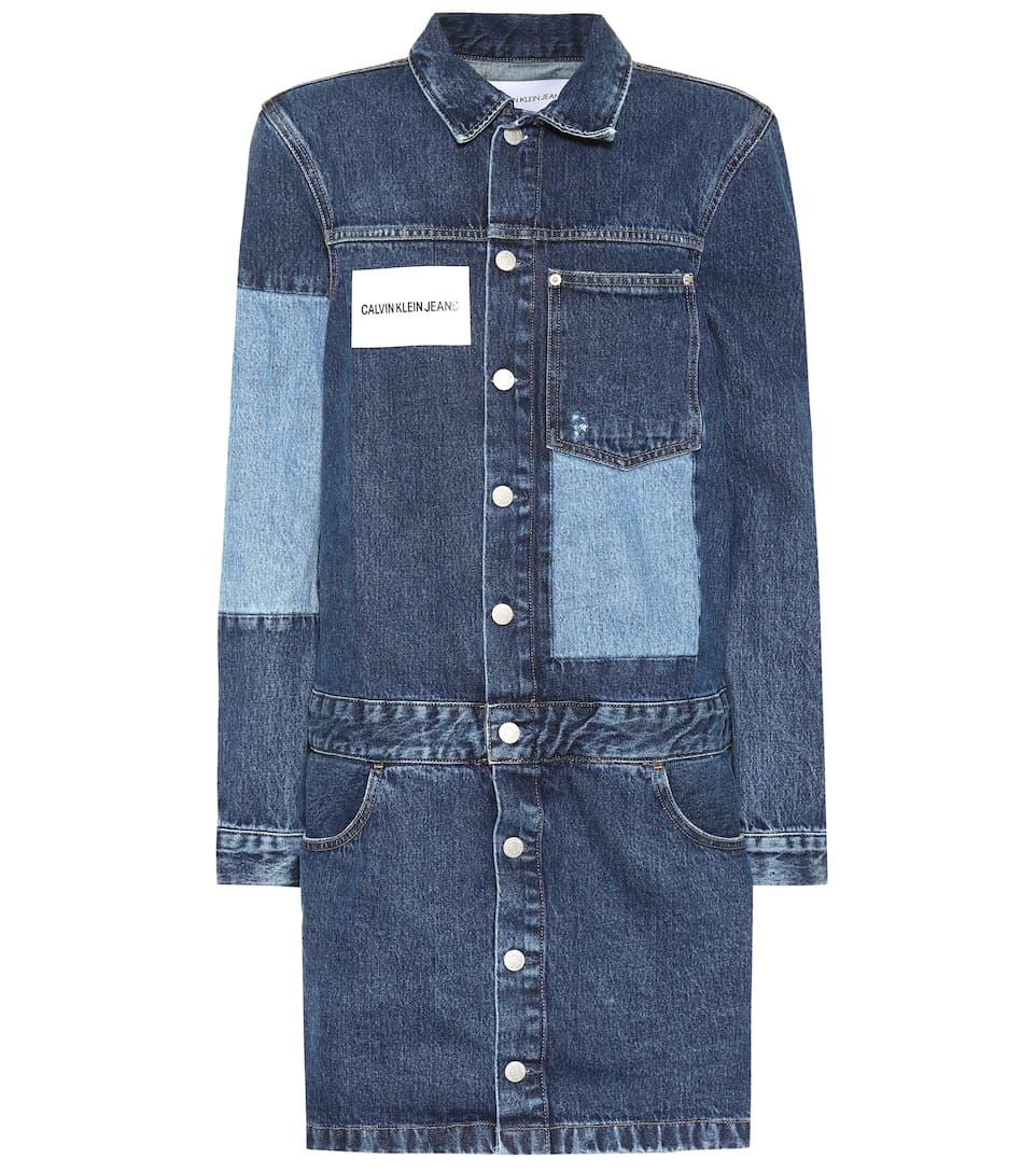 d244bd85f08 Calvin Klein Jeans - Patchwork denim dress
