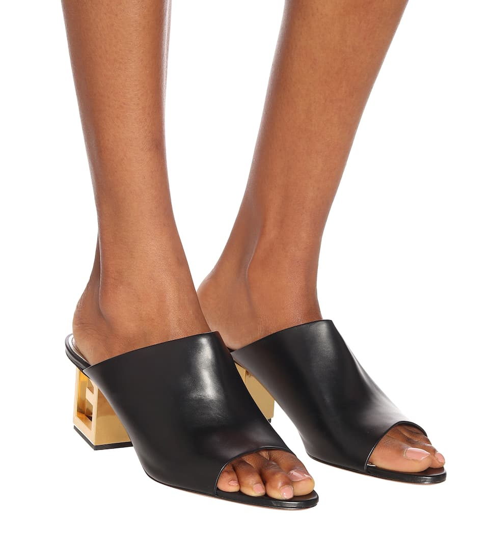 Triangle Leather Sandals - Givenchy