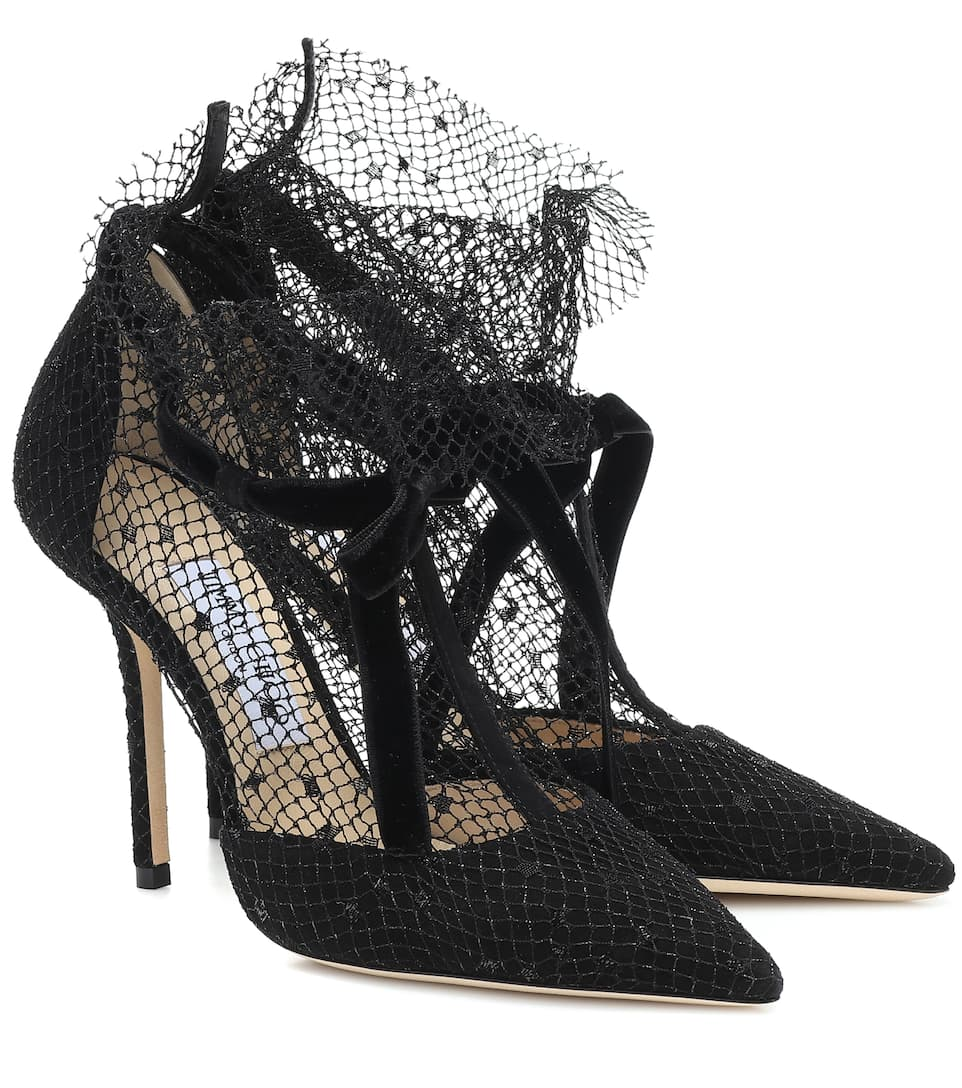 Fira 100 Mesh And Suede Pumps | Jimmy