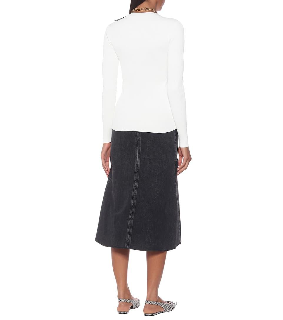 Balenciaga - Technical ribbed-knit top