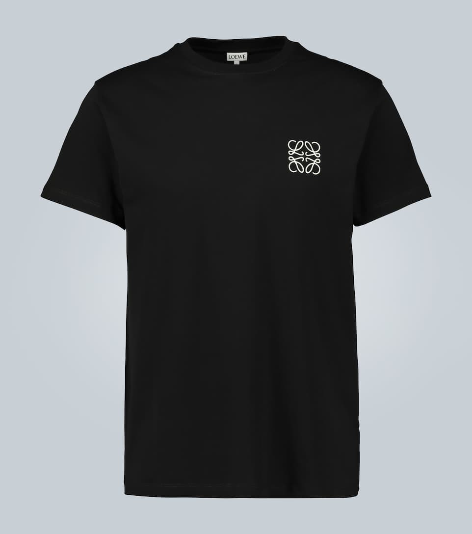 Loewe Tops ANAGRAM EMBROIDERED COTTON T-SHIRT