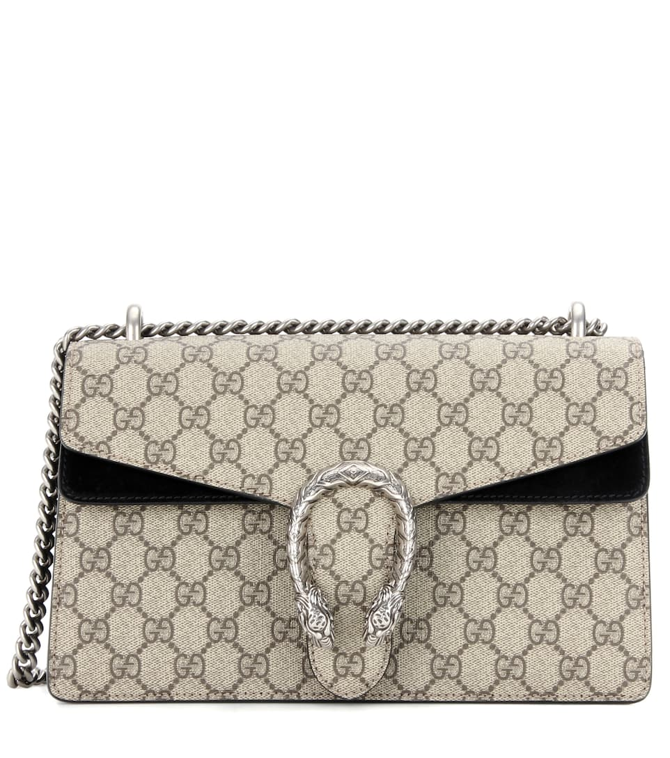 Dionysus Small Coated-canvas And Suede Shoulder Bag - Beige Gucci pRZ1wM7s7I