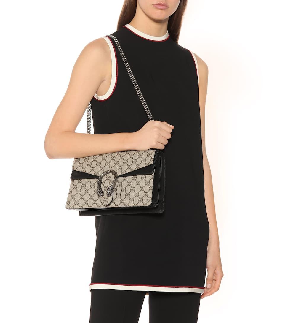 Eastbay Pas Cher Sneakernews Discount Sac À Bandoulière En Toile Et Daim Dionysus Gg Supreme Small - Gucci cOO0tVQztz