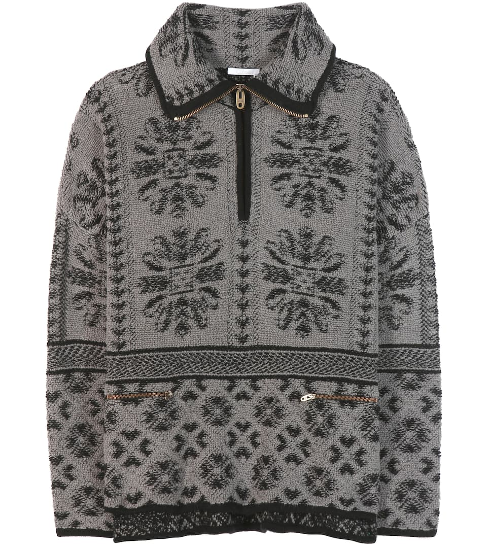 Chloé Printed wool and cashmere sweater