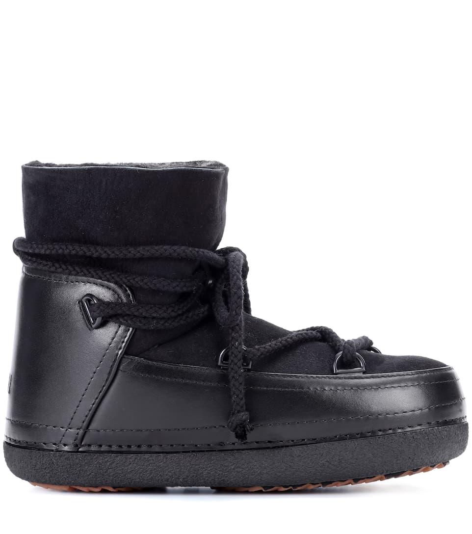 Inuikii Leder-Boots Classic Low mit Fell
