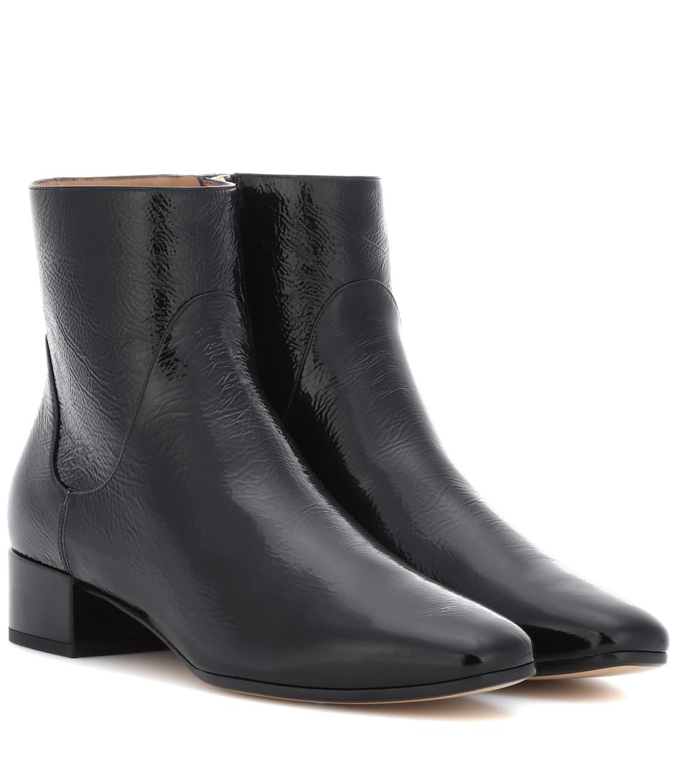 Francesco Russo Ankle Boots aus Leder
