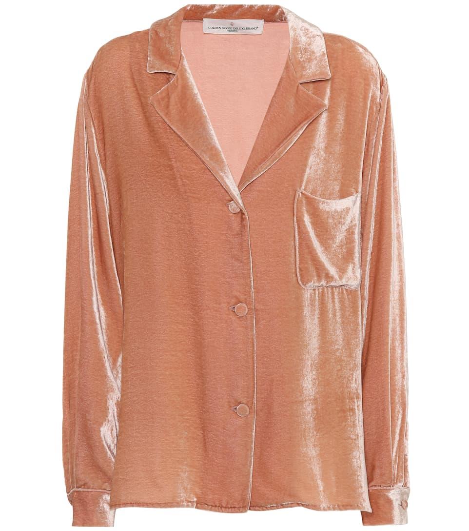 Franca velvet pyjama shirt Golden Goose 100% Authentic fUEJK