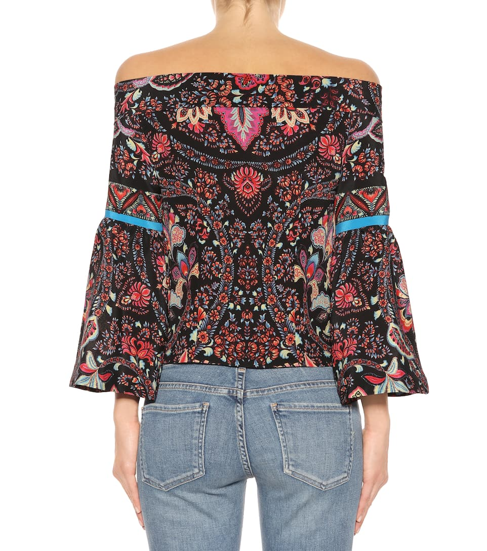 Etro Off-Shoulder-Top aus Seide