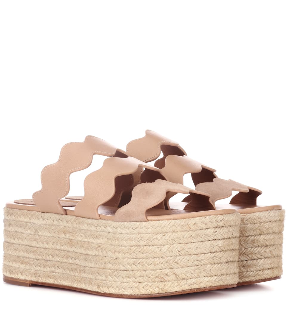 free shipping classic Chloé Lauren leather platform sandals discount clearance footlocker pictures for sale r5sWW85NH