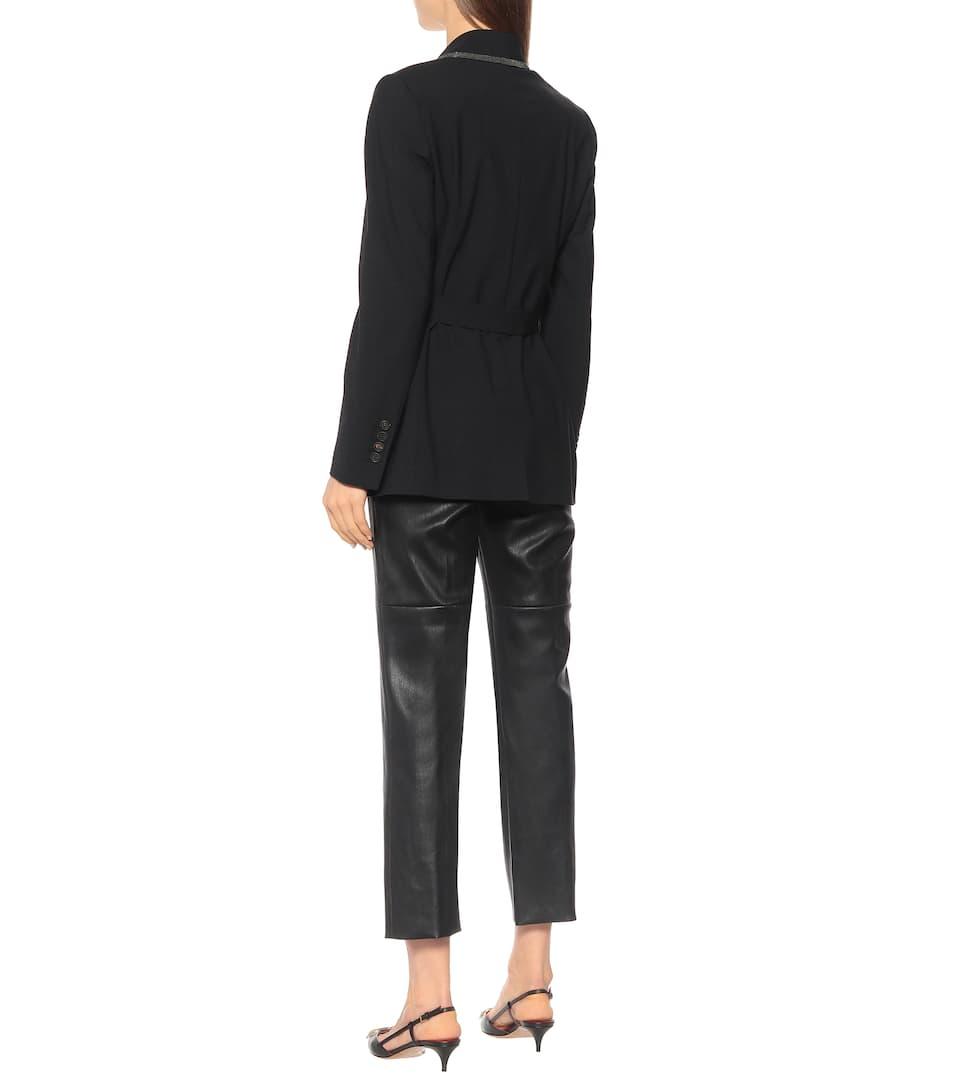 Brunello Cucinelli - Embellished wool-blend blazer