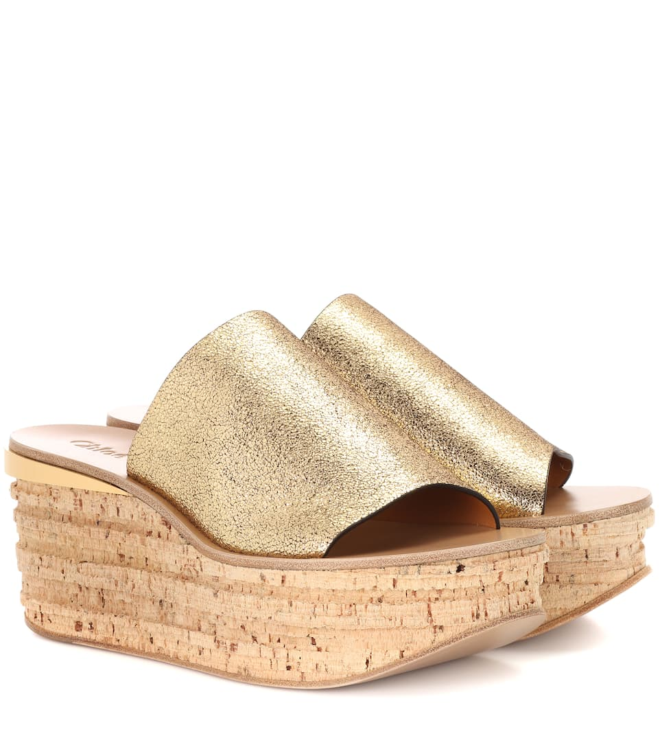 6bc521eef53a Chloé - Camille cork and leather mule