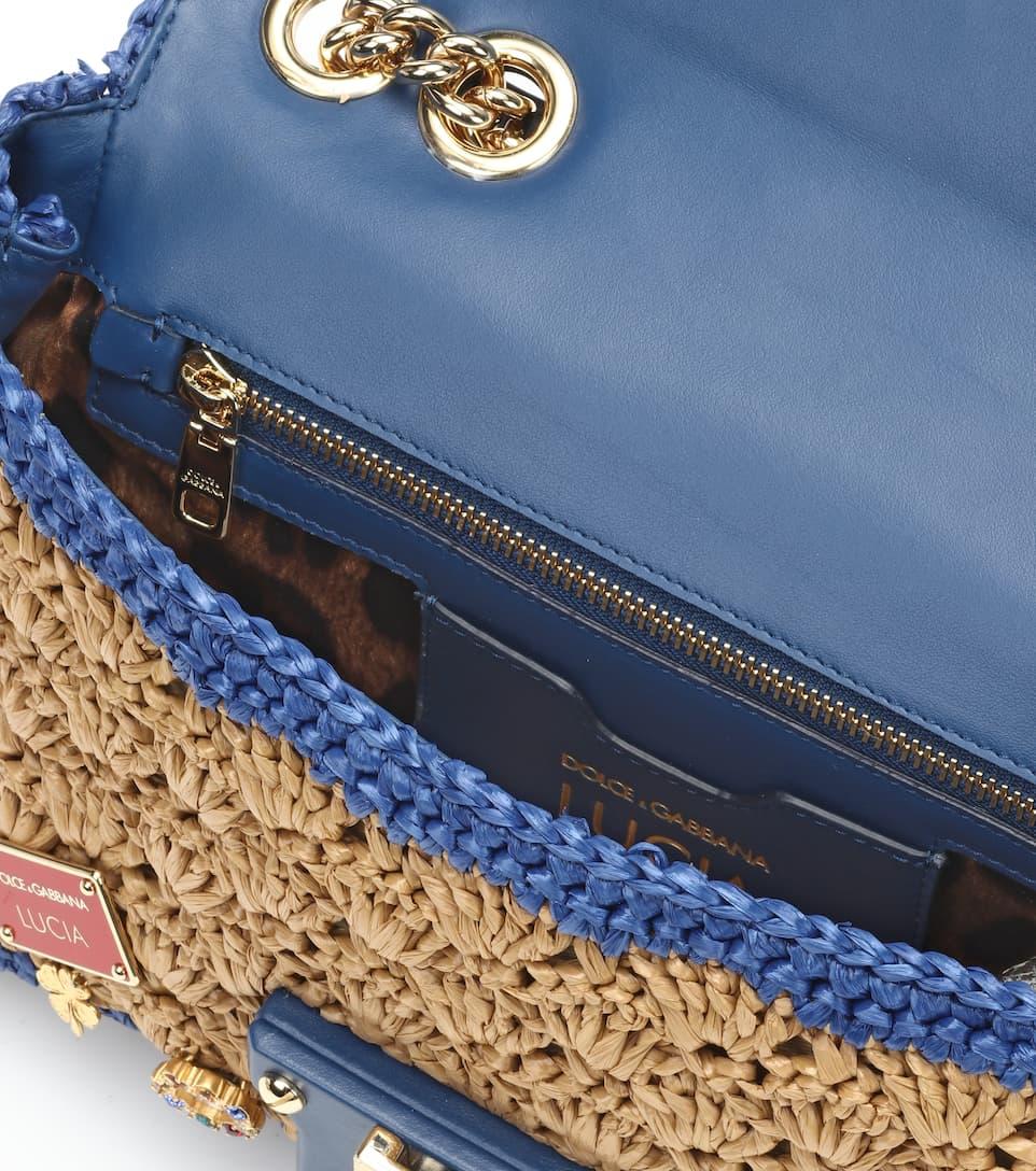 Das Beste Geschäft Zu Bekommen Dolce & Gabbana Verzierte Schultertasche Lucia aus Raffiabast Steckdose Breite Palette Von H43oy