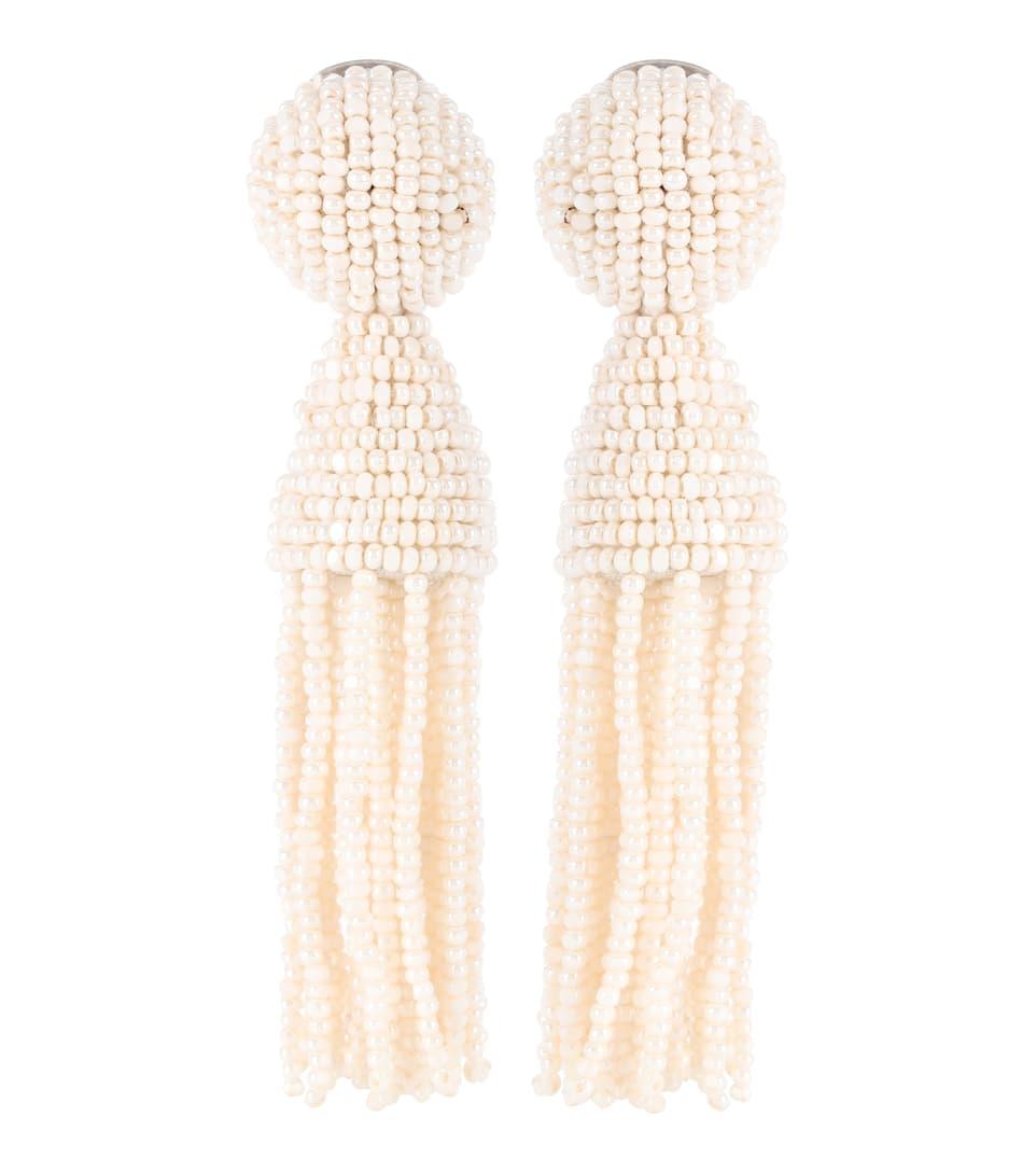 Boucles D'oreilles Clip En Perles Synthétiques - Oscar de la Renta
