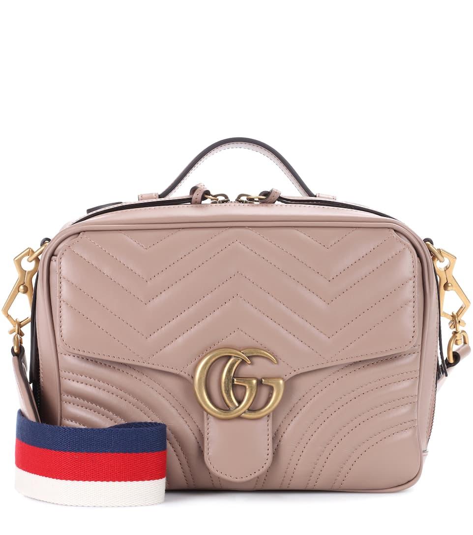 996f89f6ca93 Sac En Cuir Matelassé Gg Marmont - Gucci Sites En Ligne Pas Cher Grand  Escompte Avec