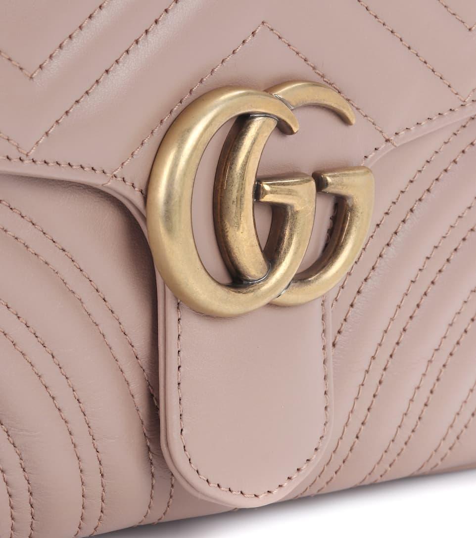 c783771b769e ... Sac En Cuir Matelassé Gg Marmont - Gucci Sites En Ligne Pas Cher Grand  Escompte Avec