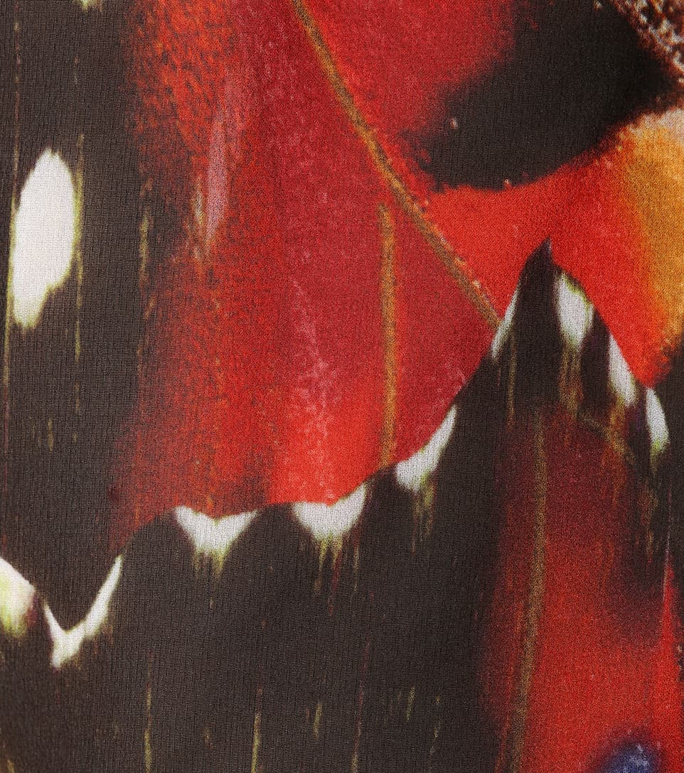 Roberto Cavalli Bedrucktes Top aus Seide