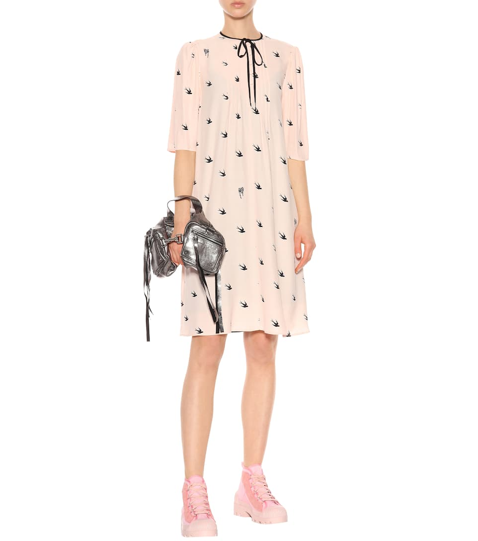 McQ Alexander McQueen - Robe en crêpe Pin-Up Swallow Boutique En Ligne WAEbKkliNO