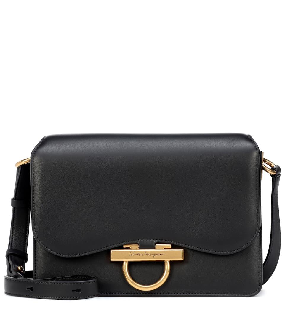 Joanne Leather Shoulder Bag by Salvatore Ferragamo