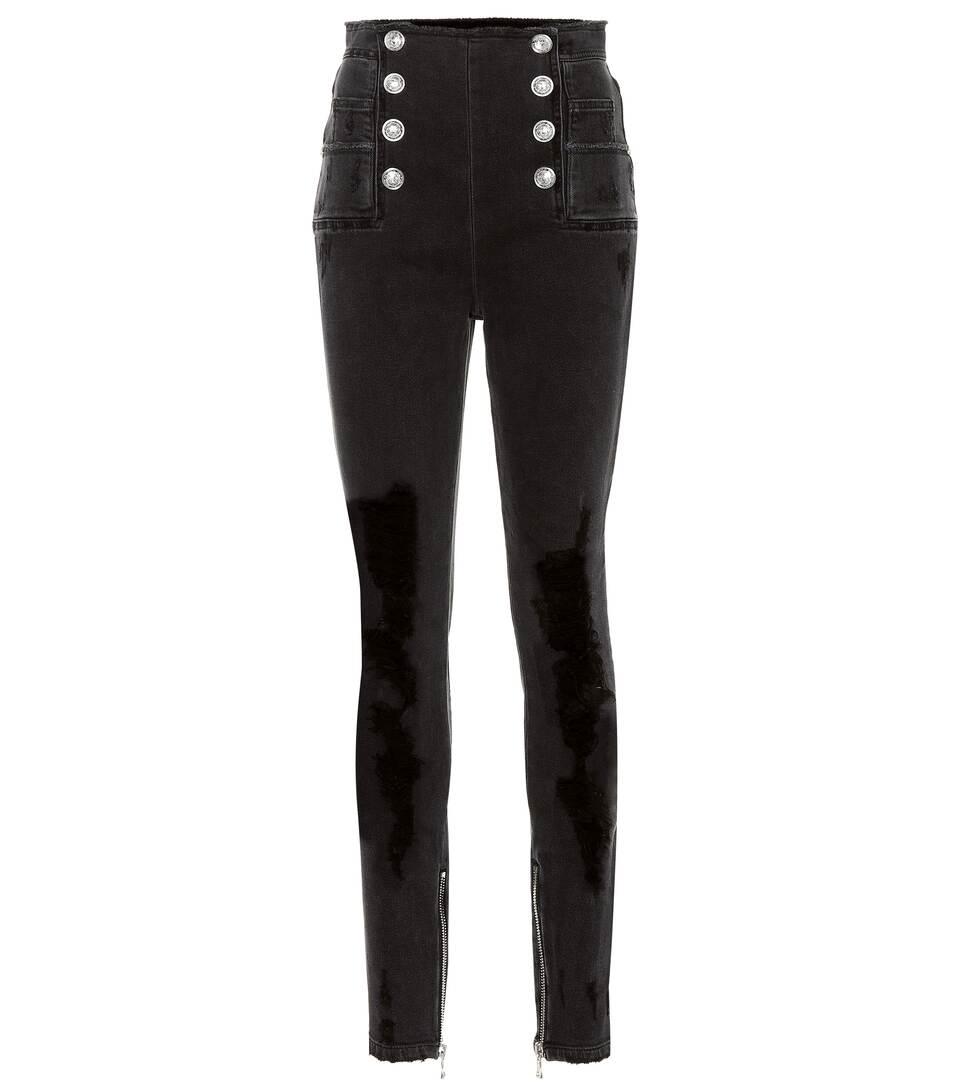 5877d067 High-Rise Skinny Jeans | Balmain - mytheresa.com