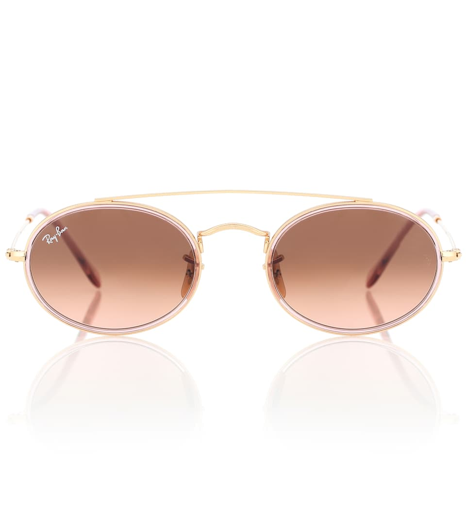 ecf54cf62ef Oval Double Bridge Sunglasses - Ray-Ban