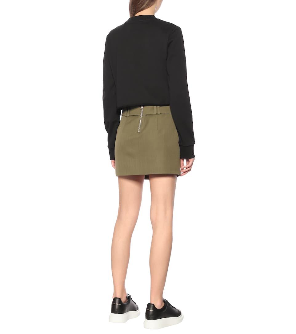Cropped Stretch-Cotton Sweatshirt - Balmain
