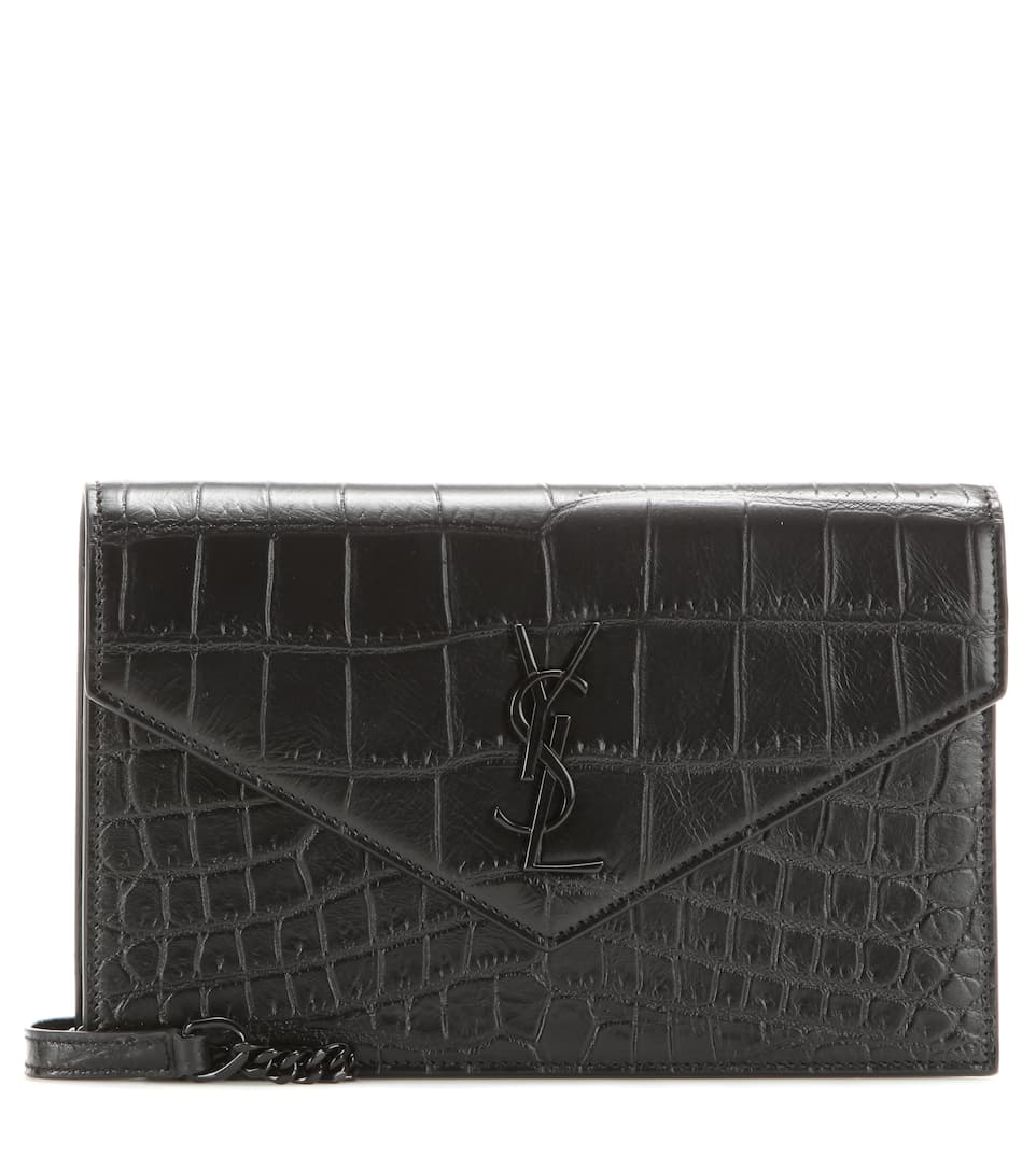 Saint Laurent Monogram embossed leather shoulder bag