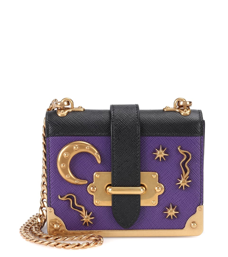3f0a30776f25 Prada - Embellished leather shoulder bag
