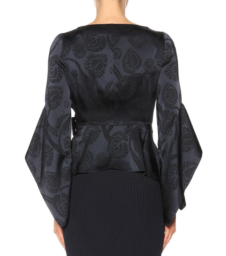 Peter Pilotto Wrap-Top aus Jacquard