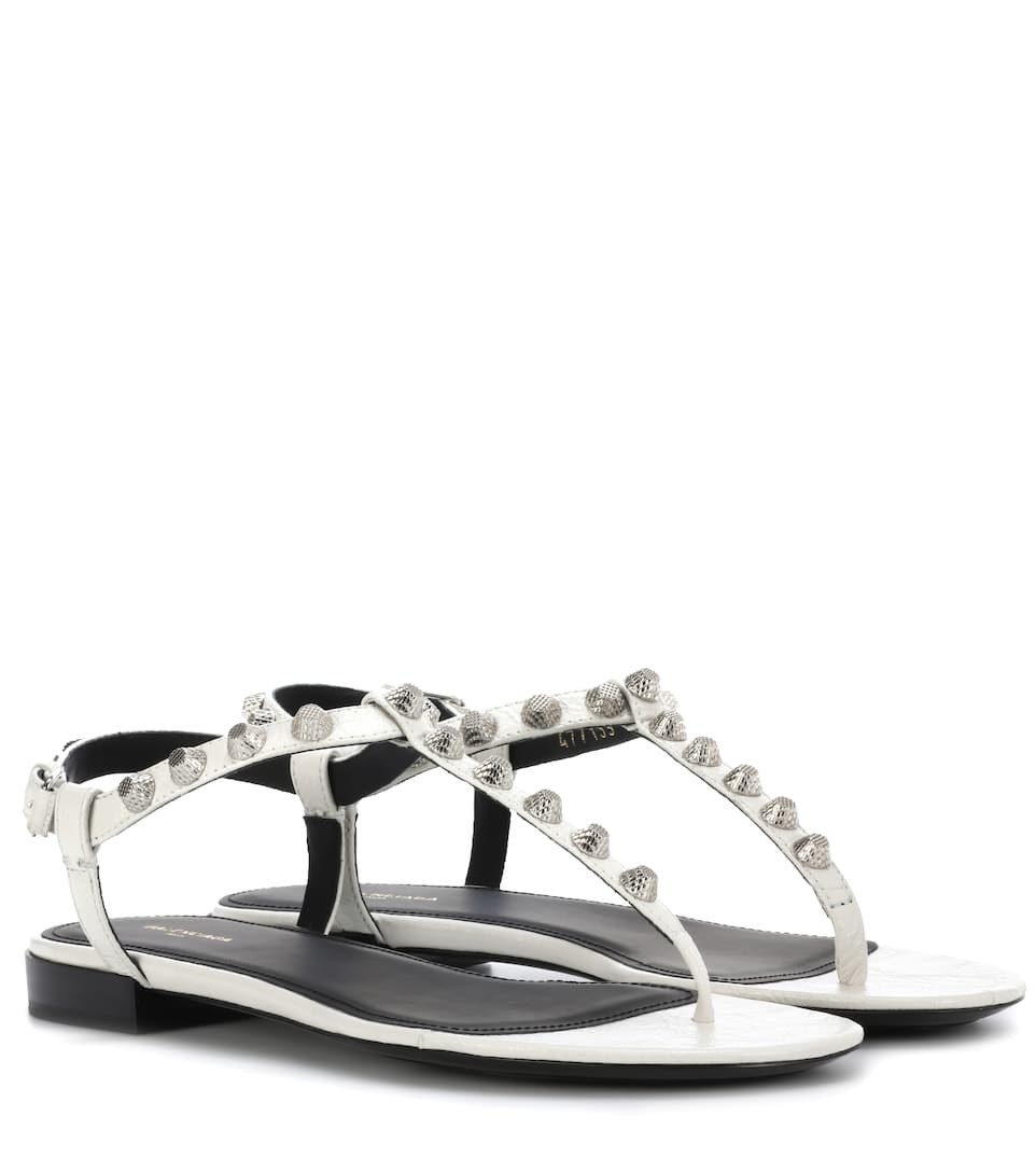 1f3bc7b55ccd Giant Stud Leather Sandals - Balenciaga