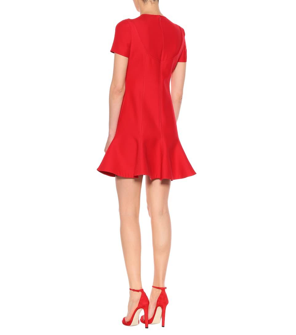 lana Vestido V y Valentino seda de Rosso pUTPqxEOSw
