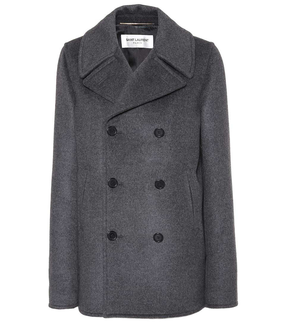 Wool, Angora And Cashgora Coat by Saint Laurent