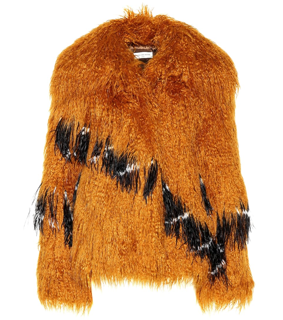 73667f53941e Faux-Fur Coat - Dries Van Noten