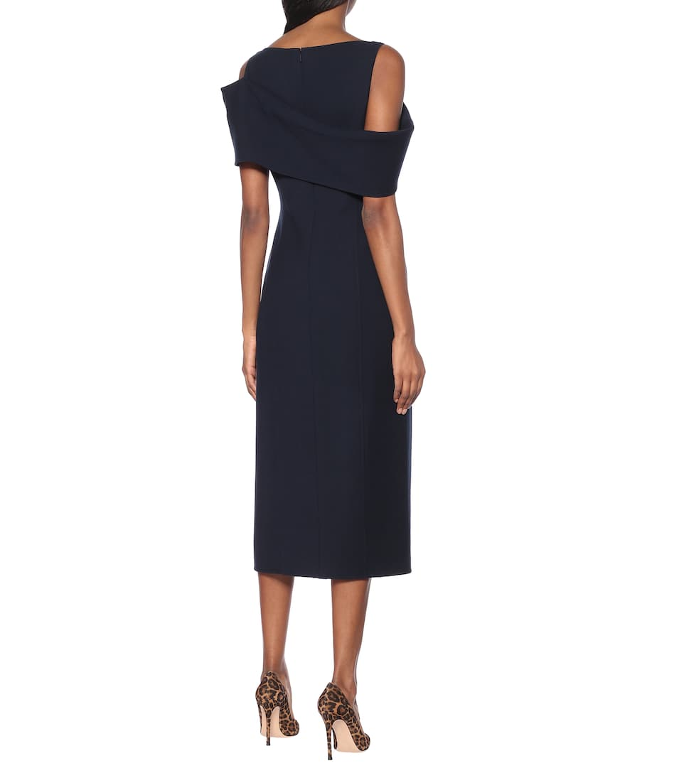 Oscar de la Renta - Stretch-wool midi dress