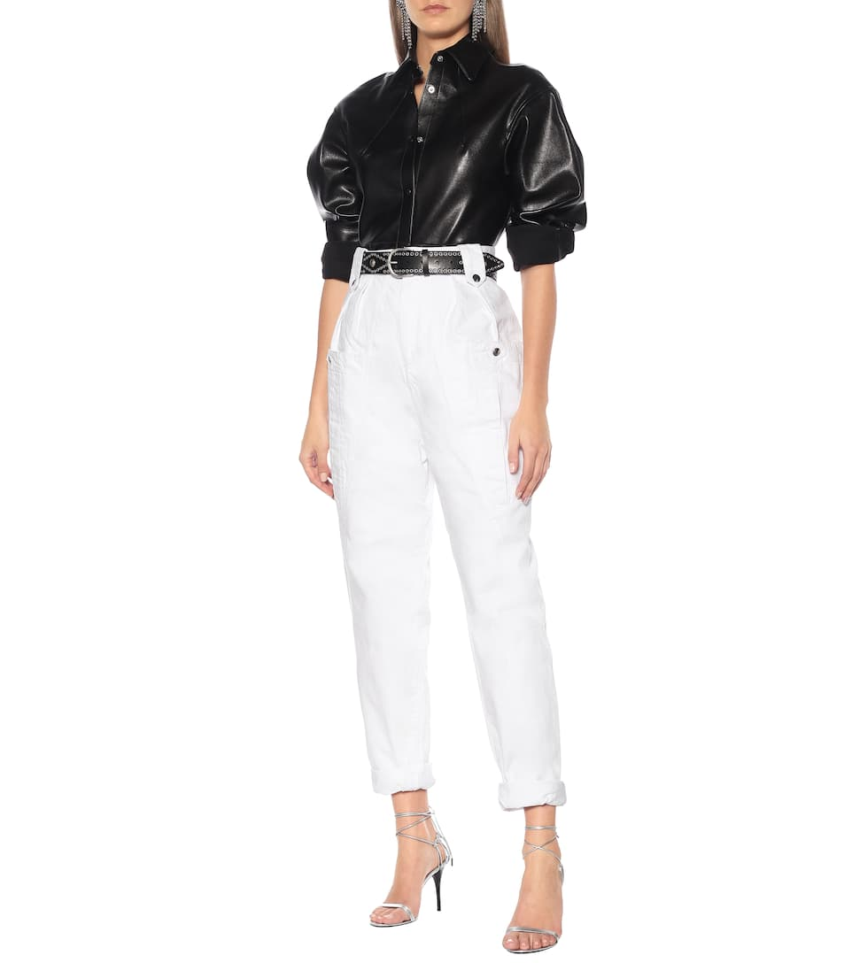 Isabel Marant - Xiao leather shirt