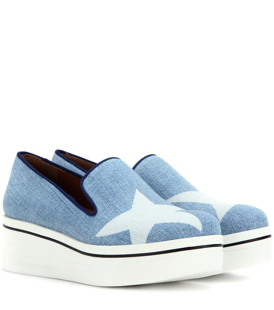 Stella McCartney Star Binx Platform Slip-On Sneakers ZHBfaZ49Cl