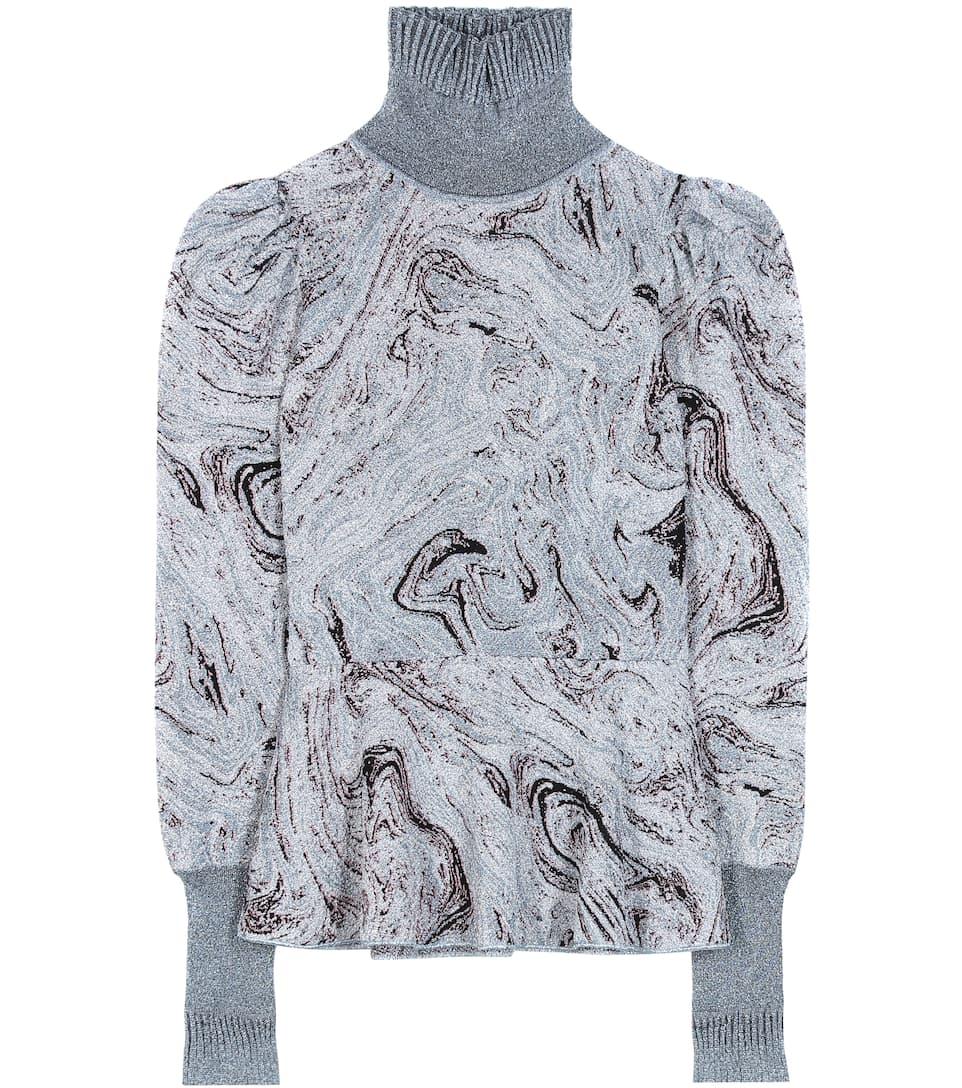 Lanvin Metallic knitted turtleneck sweater