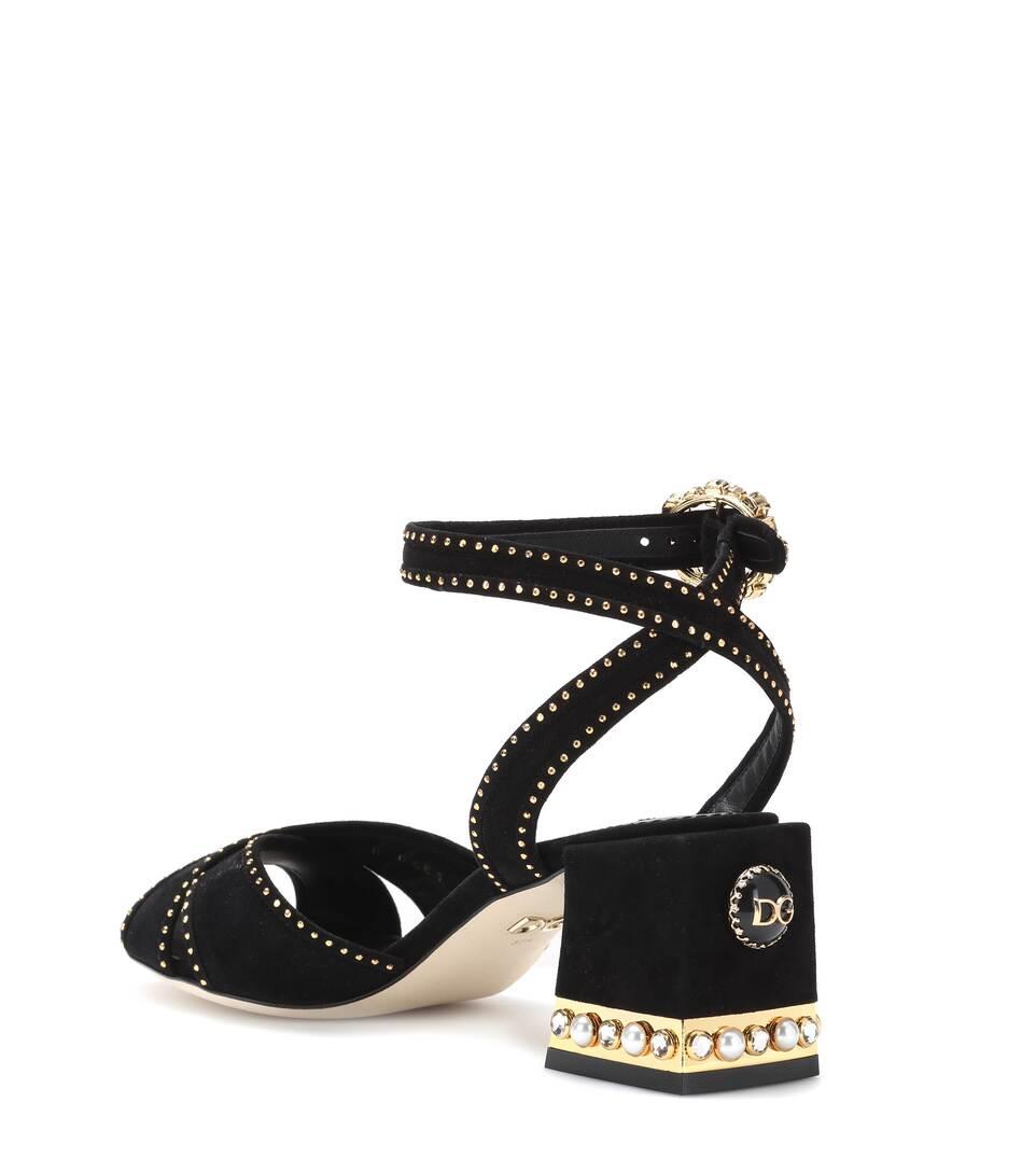 D'origine À Vendre Ordre La Vente En Ligne Dolce & Gabbana - Sandales en daim clouté Dernier Prix Pas Cher Vraiment À Vendre lM9XS