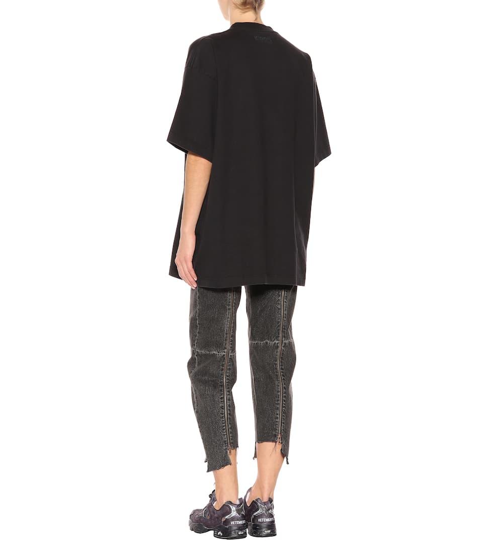 Vetements Verziertes Baumwoll-T-Shirt