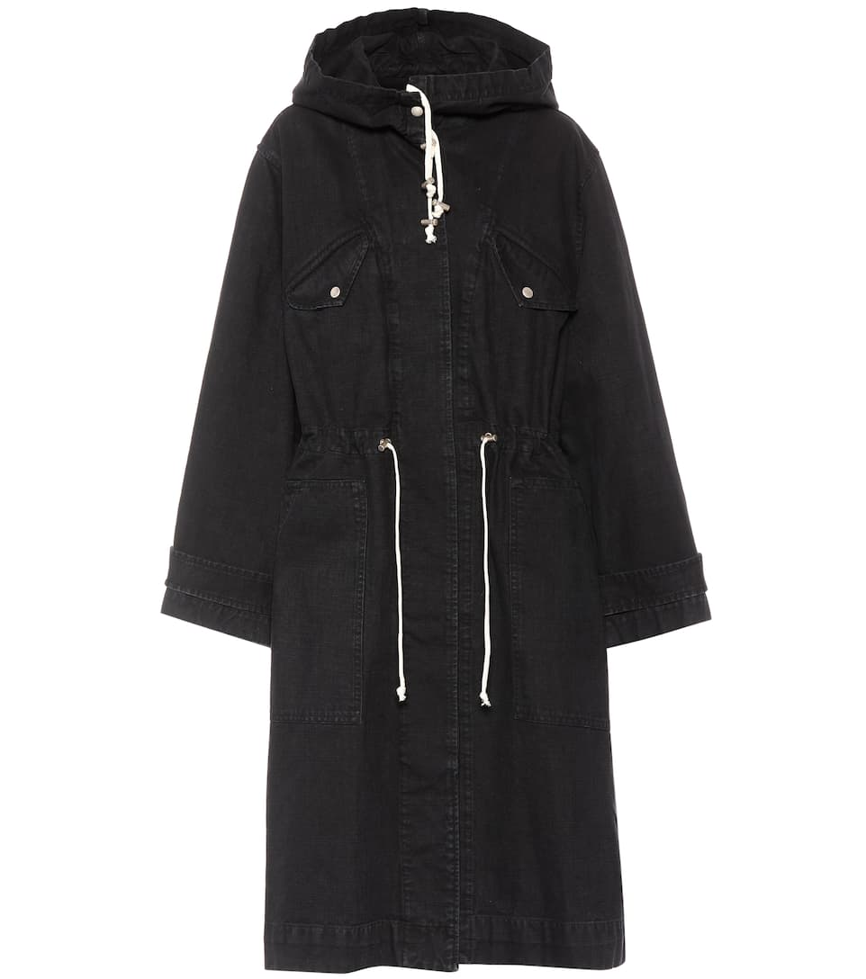 LANDER COTTON HOODED TRENCH COAT