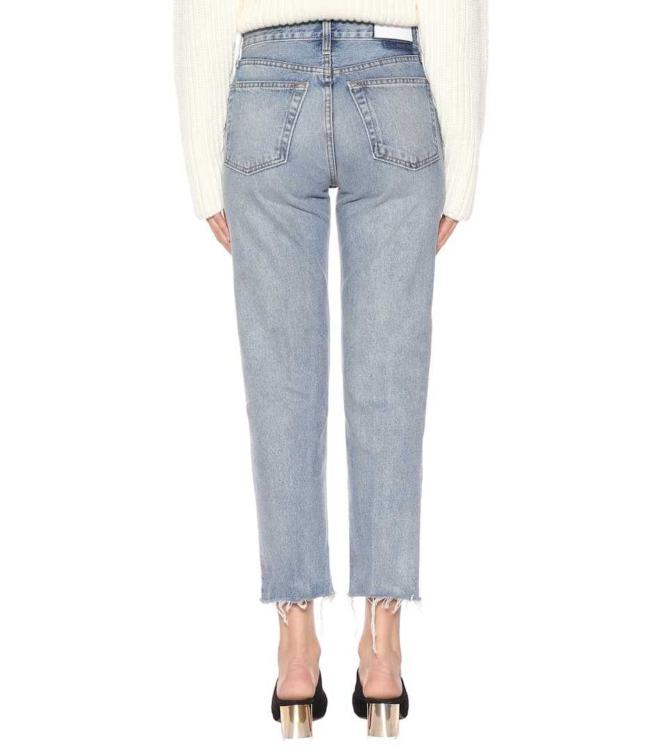 Re/Done High-Rise-Jeans Stovepipe