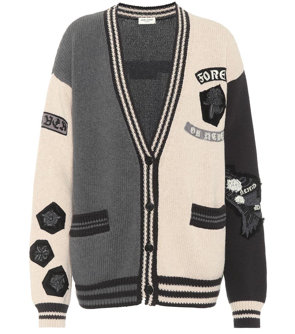 Saint Laurent Verzierter Cardigan aus Baumwolle