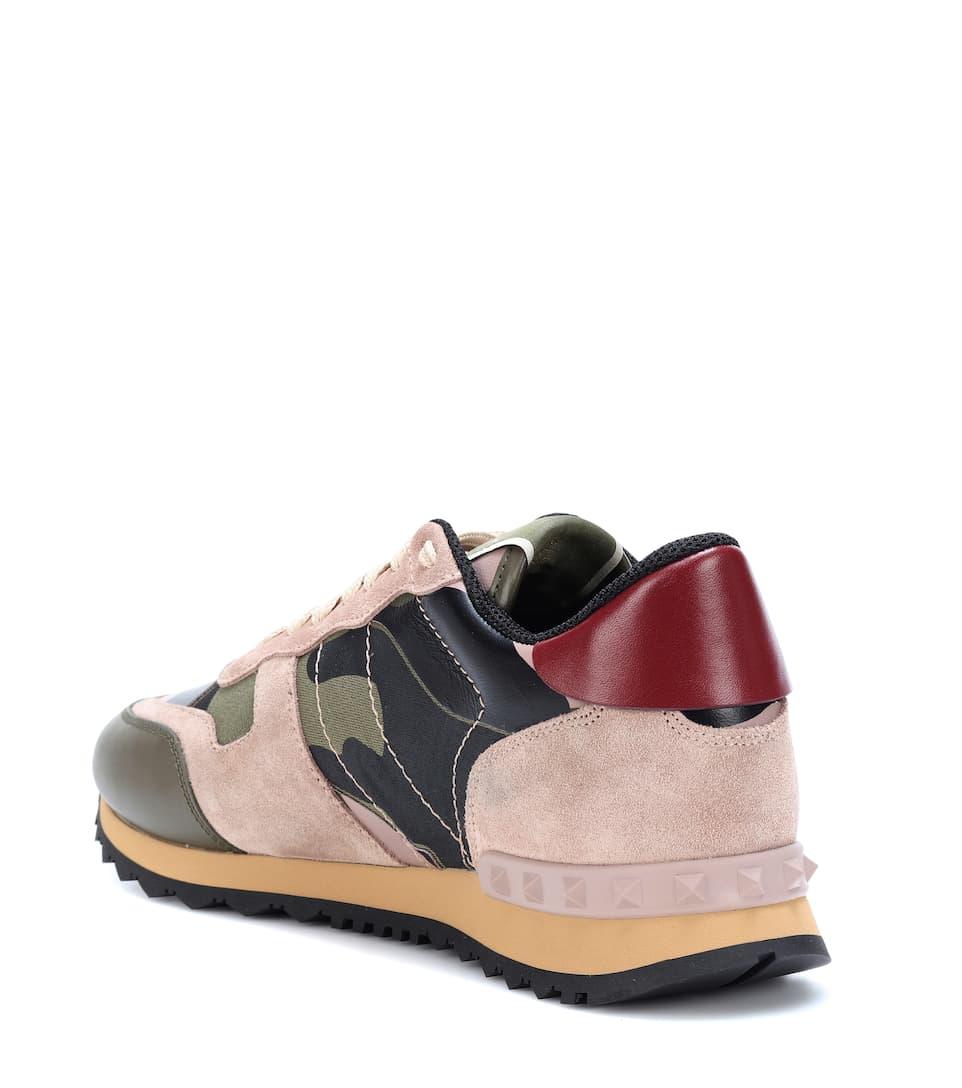 Valentino Garavani Sneakers Rockrunner in pelle, suede e tessuto