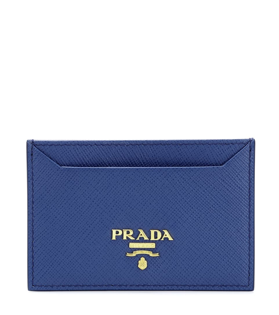 PRADA SAFFIANO CARD HOLDER, BLUE