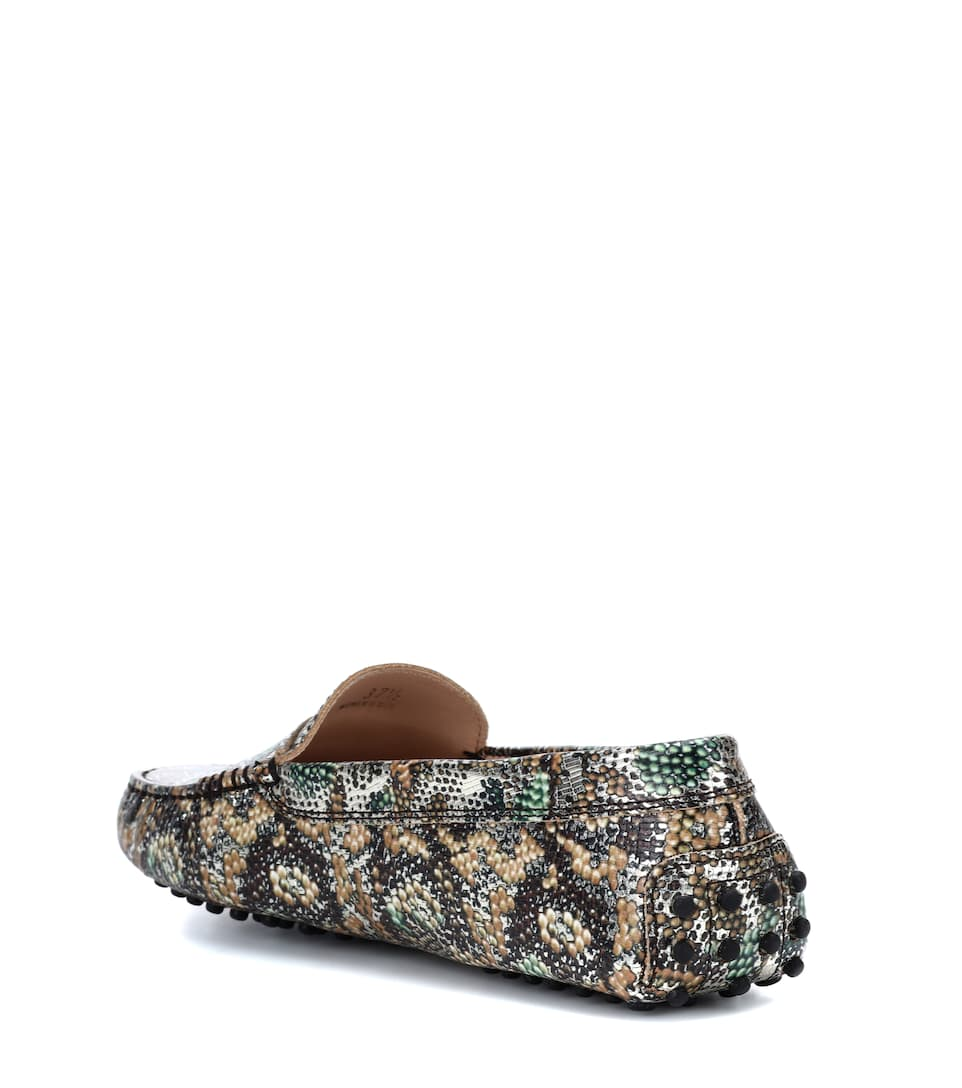 Exclusive to mytheresa.com - Gommino leather loafers Tod's ooWLoq