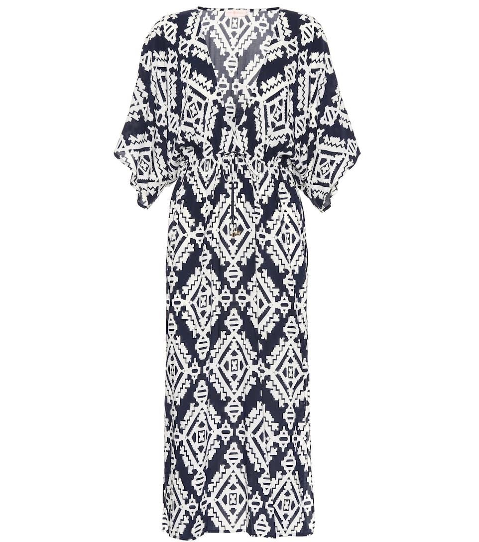 Robe Imprimée Tapestry Geo Beach - Tory Burch La Sortie Confortable Prix Incroyable En Ligne 2018 Unisexe VSTaJ2f