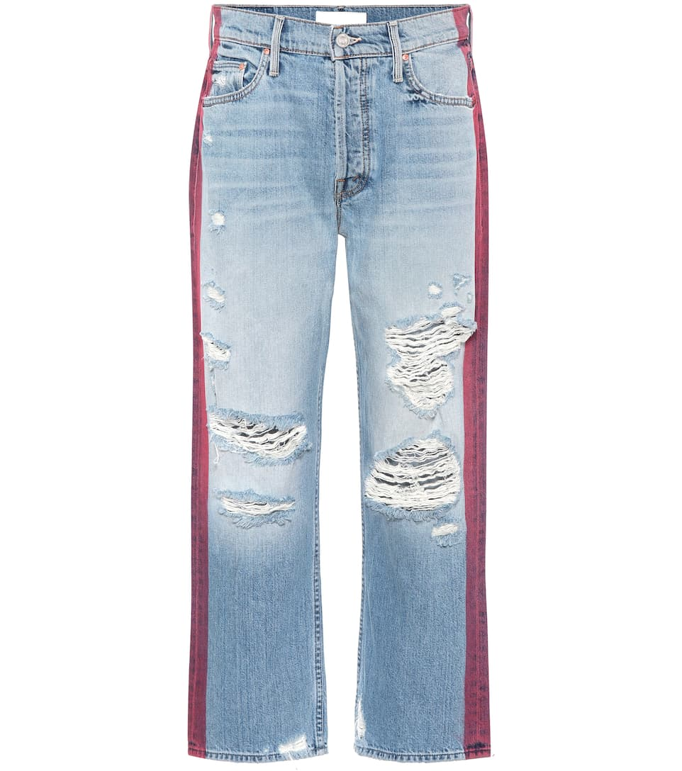 Mother Distressed Jeans The Trasher aus Baumwolle