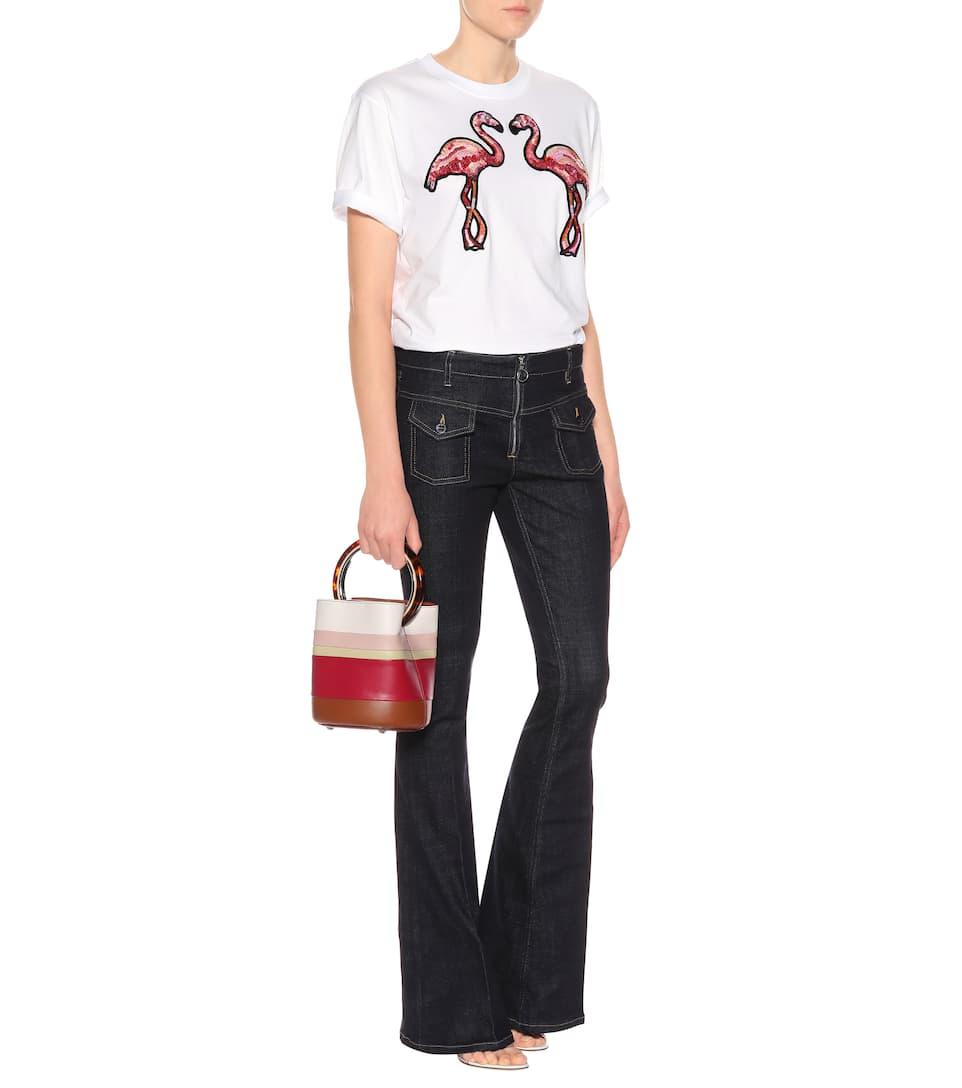 Victoria Victoria Beckham Verziertes T-Shirt aus Baumwolle