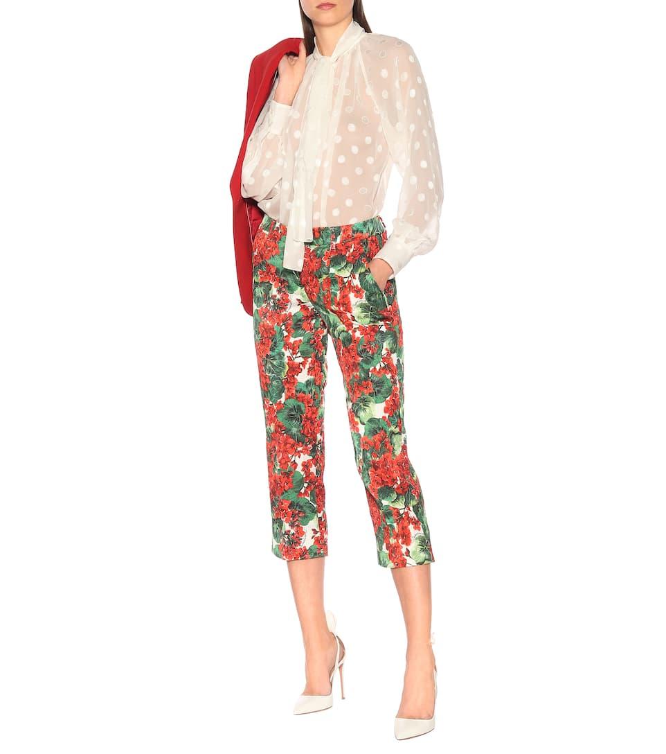 Lavallière N° Dolceamp; GabbanaChemise À En Brodée Artnbsp;p00389214 Soie WoxdCBEQre