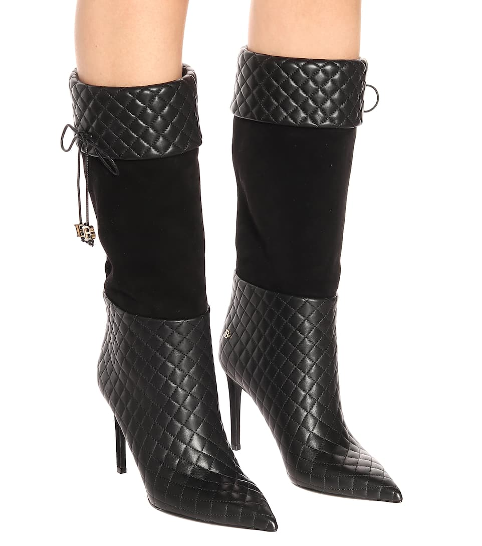 cb1b38523 Mina Leather Knee-High Boots | Balmain - Mytheresa